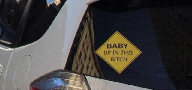 Vehicle door - BABY UP IN THIS BITCH