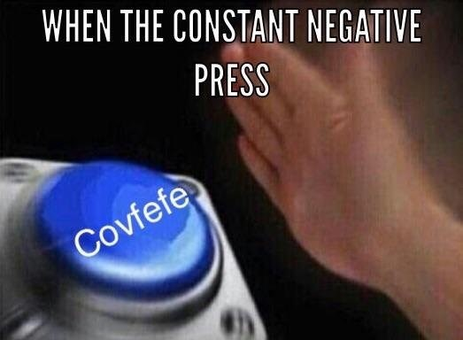 nut button meme about Trump's covfefe tweet