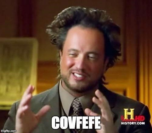 Ancient Aliens guy talking about covfefe