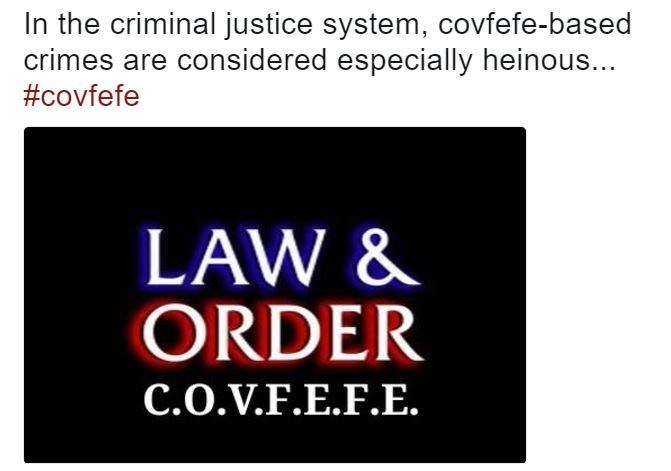 Law and Order intro about the covfefe unit