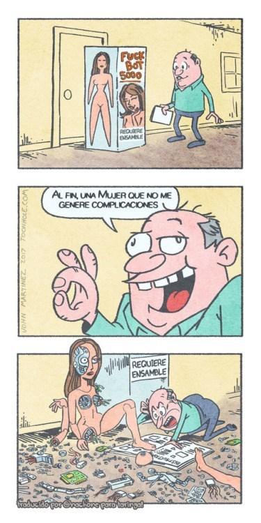 por fin una mujer que no genera complicaciones