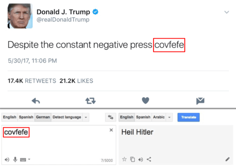 donald trump tweet that says heil hitler