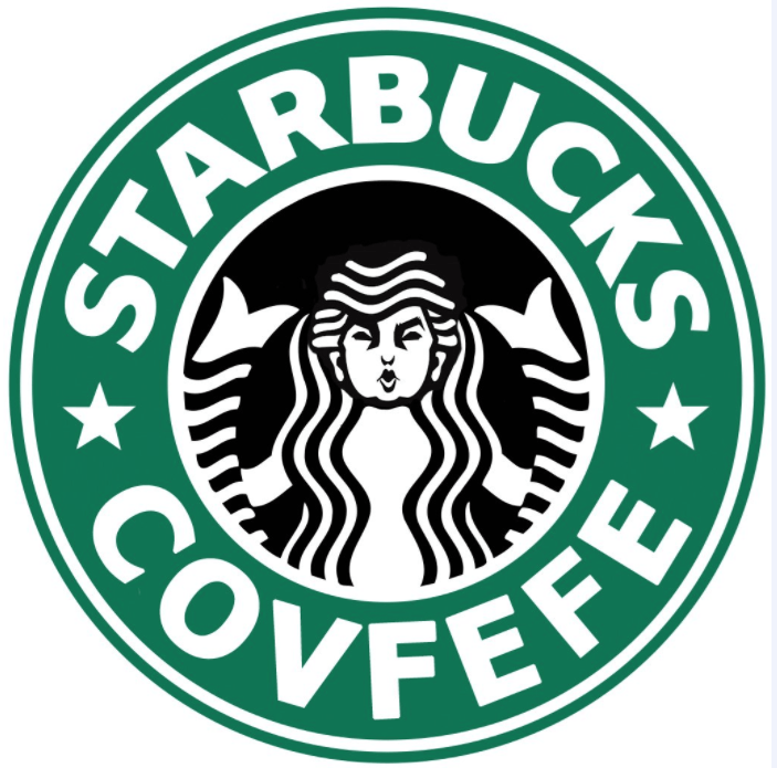 starbucks logo changed with the girl making a face instead