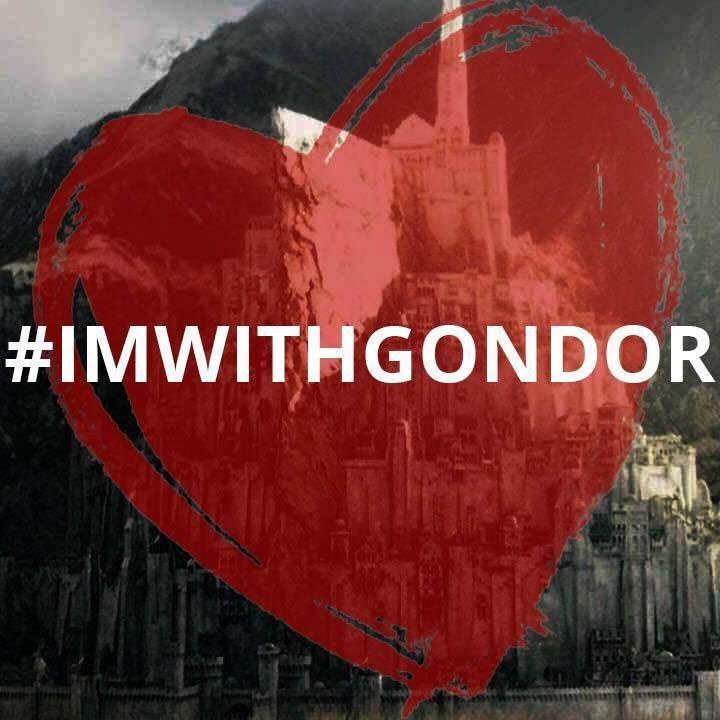 #imwithgondor over a red heart