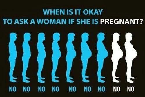 A funny illustration of pregnant women