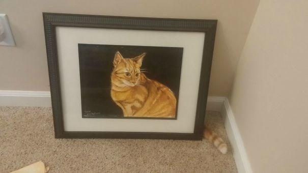 life imitates art - Cat