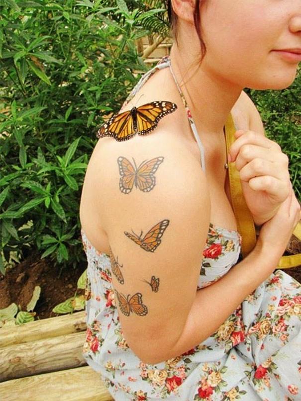 life imitates art - Temporary tattoo