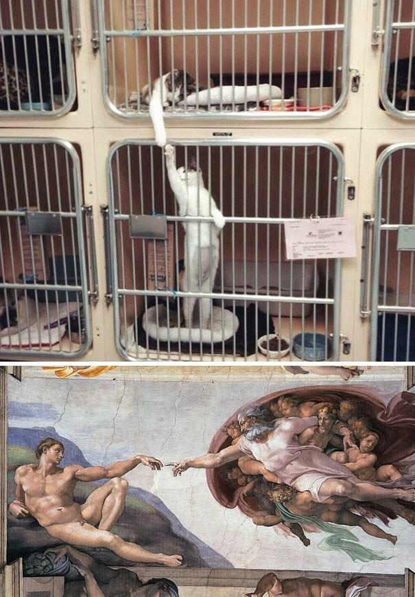life imitates art - Cage
