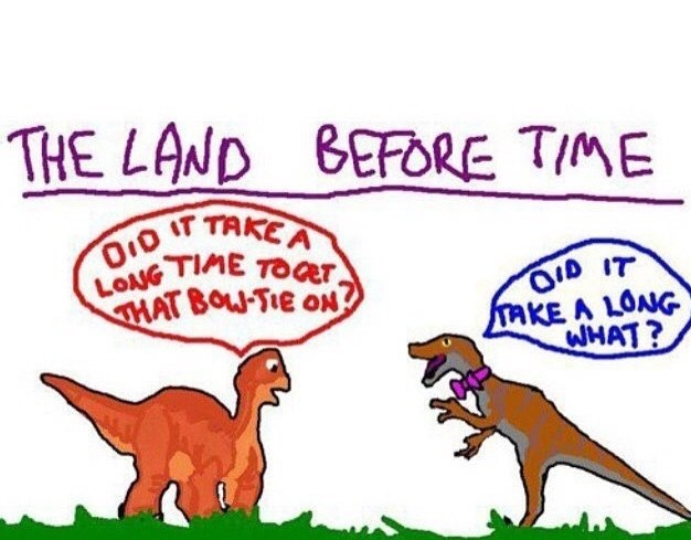 "thursday meme about the movie ""the land before time"" being about a time when time didn't exist yet"