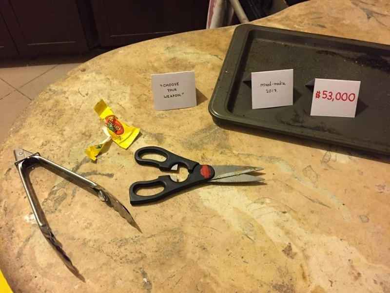 Scissors - mixed-medta 2017 N CHOOSE YOUR $53,000 WEAPON xes