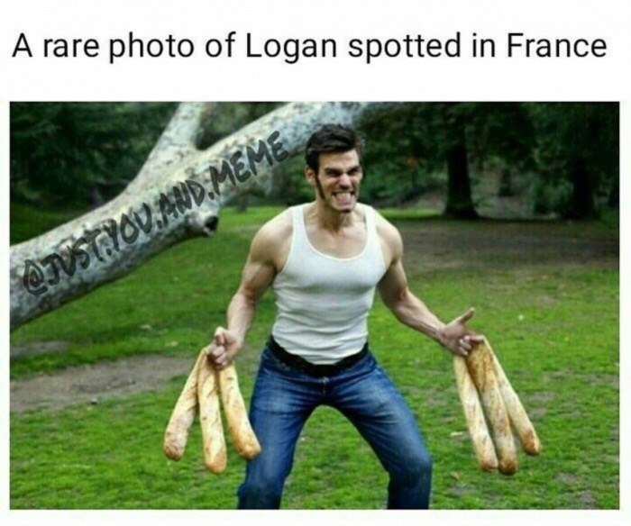 Human - A rare photo of Logan spotted in France ON GIOVAND.MEME
