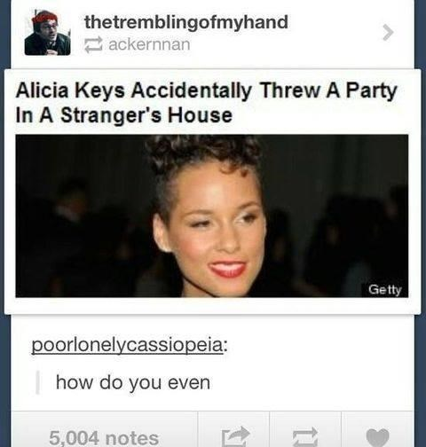 Hair - thetremblingofmyhand ackernnan Alicia Keys Accidentally Threw A Party In A Stranger's House Getty poorlonelycassiopeia: how do you even 5,004 notes