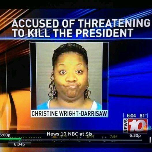 News - ACCUSED OF THREATENING TO KILL THE PRESIDENT CHRISTINE WRIGHT-DARRISAW I 6:04 61° 6:00p News 10 NBC at Six, 6:30p TPM 7AM AINAIA IA 6:04p WS