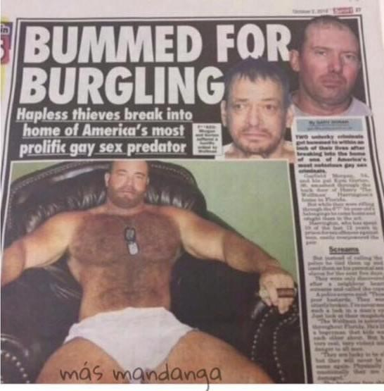 Muscle - BUMMED FOR BURGLING Hapless thieves break into home of America's most prolific gay sex predator más mandanga