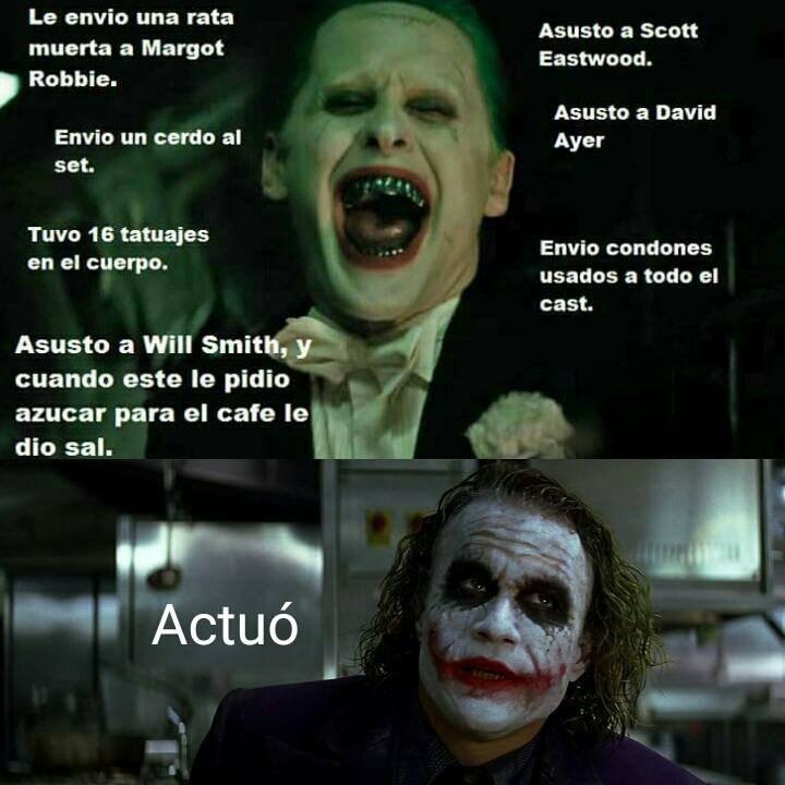 diferencia entre los actores que encarnaron al joker
