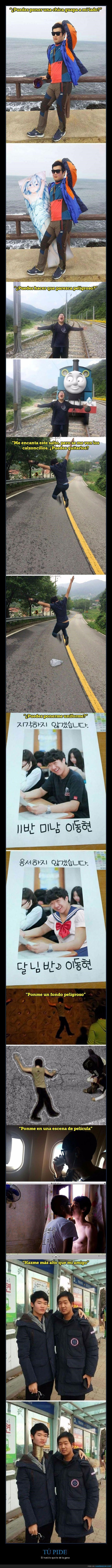 lista de fotos de trolleo photoshop coreano