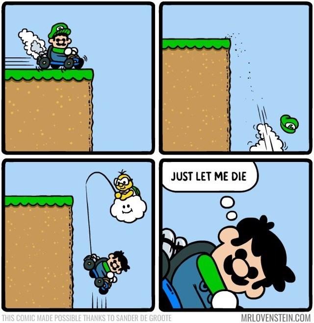 Lovenstein comic - Cartoon - JUST LET ME DIE