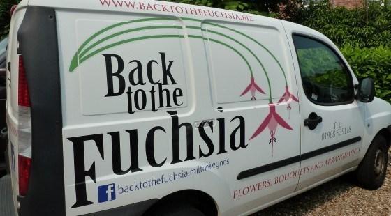 funny business names - Motor vehicle - www.BACKTOTHEFUCHSIABZ Back tothe NUchsia TEL N908 93910 f backtothefuchsia.miltonkeynes FLOWERS BOUQUETSANDARRANGEMENT