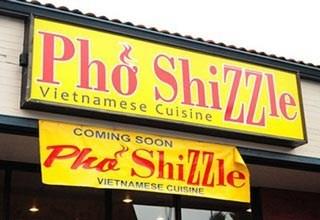 funny business names - Advertising - Pho ShilTle Vietnamese Cuisine COMING SOON Ple Shille VIETNAMESE CUISINE