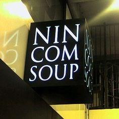 funny business names - Font - NIN COM SOUP