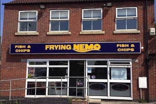 funny business names - Property - FRYING NEMO FISH& FISH & CHIPS CHIPS