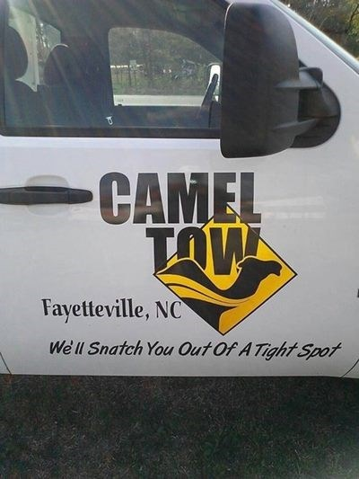 funny business names - Motor vehicle - CAMEL TOW Fayetteville, NC We'll Snatch You Out Of A TightSpot