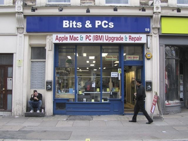 funny business names - Building - Bits&PCs 59 Apple Mac &PC (IBM) Upgrade&Repair Inerna Cale CALL SHOP ornce TO LET HE ww.t