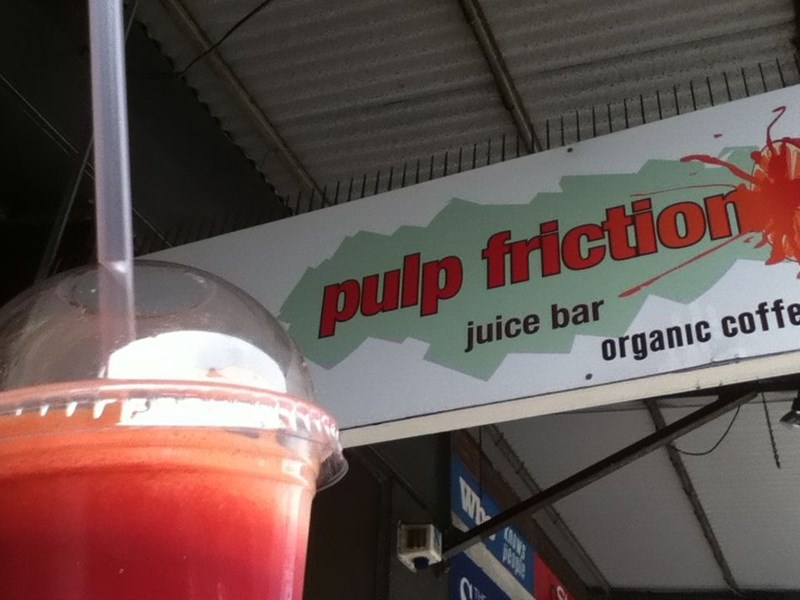 funny business names - Drink - pulp friction TrE juice bar organic coffe daed
