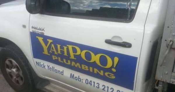 funny business names - Motor vehicle - K NODAD YAHPOO! PLUMBING Nick Yelland Mob: 0413 212