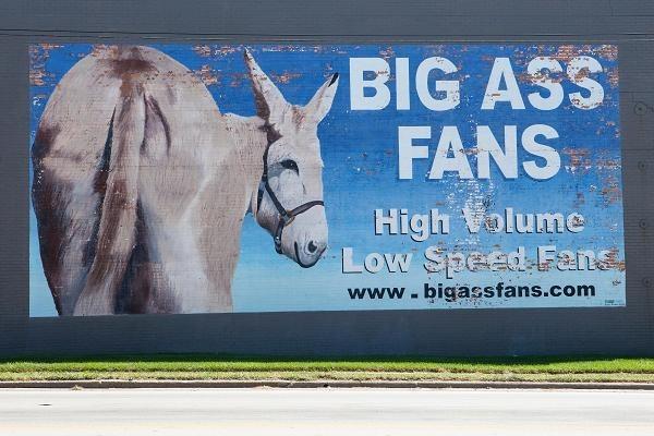 funny business names - Burro - BIG ASS FANS High olume Low Speed Fans www.bigassfans.com