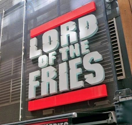 funny business names - Font - LORD OF THE FRIES