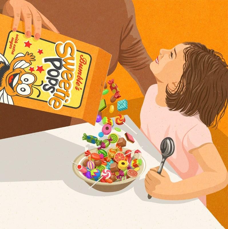 John Holcroft - Cartoon - Bumble's POPS sith extra sugar