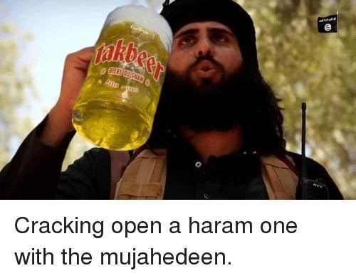 best meme of a man drinking beer out of a huge cup