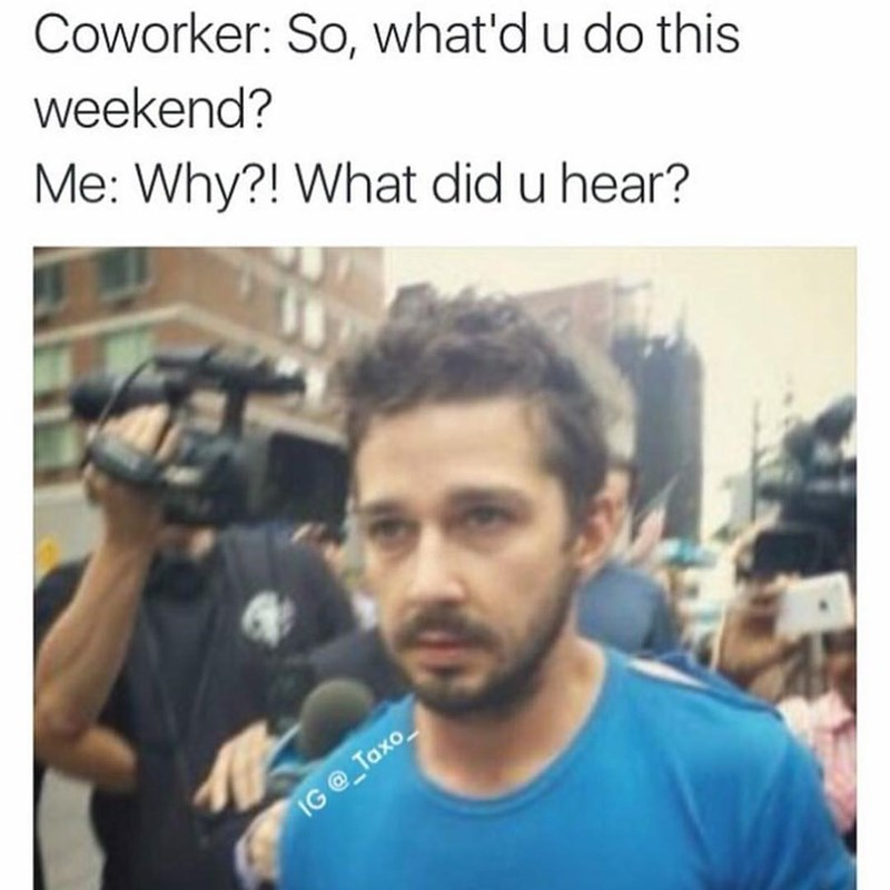 best meme of Shia LaBeouf getting bombarded by the press