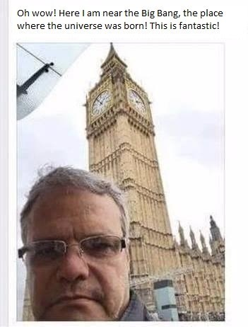 guy thinks 'Big Ben' in London is 'The Big Bang'