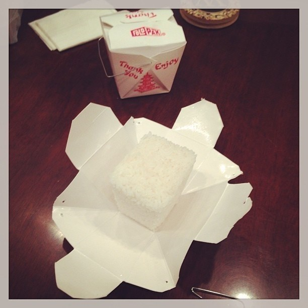 How to properly open up rice for Chinese food.
