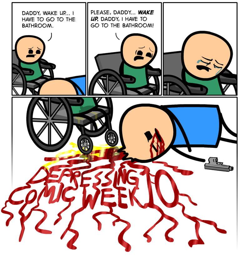 webcomic - People - PLEASE, DADDY... WAKE UP DADDY, I HAVE TO GO TO THE BATHROOM! DADDY, WAKE U.. I HAVE TO GO TO THE BATHROOM GCWEEK