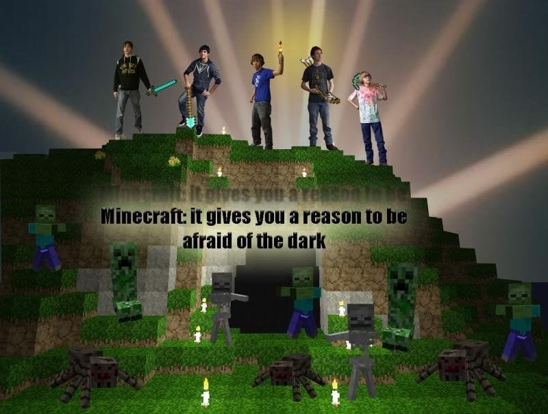 Green - Mlt Dives your a Minecraft: it gives you a reason to be afraid of the dark
