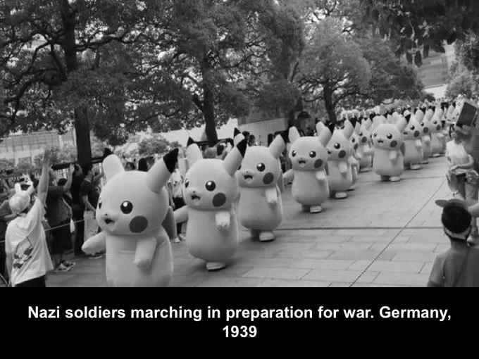 Black-and-white - Nazi soldiers marching in preparation for war. Germany, 1939