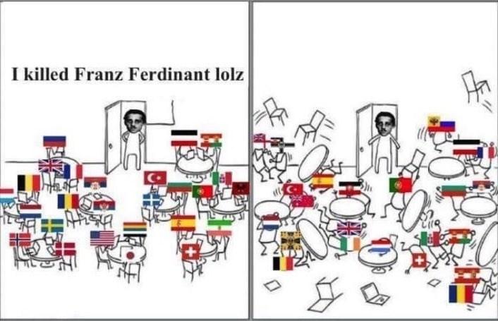 White - I killed Franz Ferdinant lolz