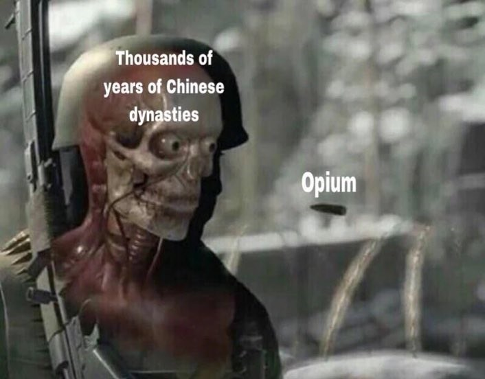 Head - Thousands of years of Chinese dynasties Opium