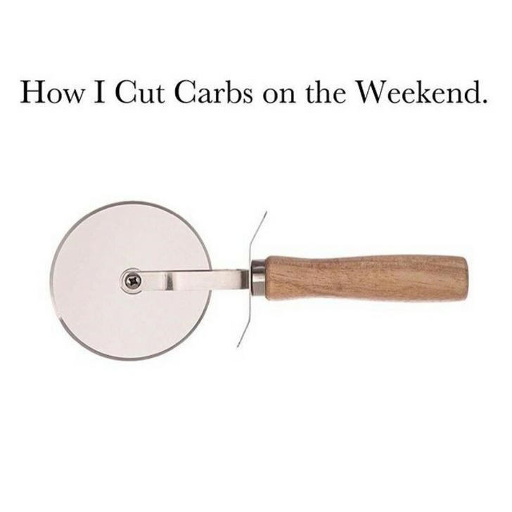 Pizza cutter - How I Cut Carbs on the Weekend.