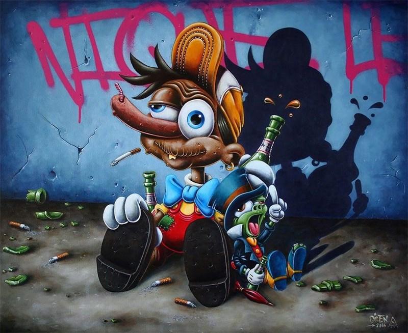 Street art - NAK CHEN A 2016