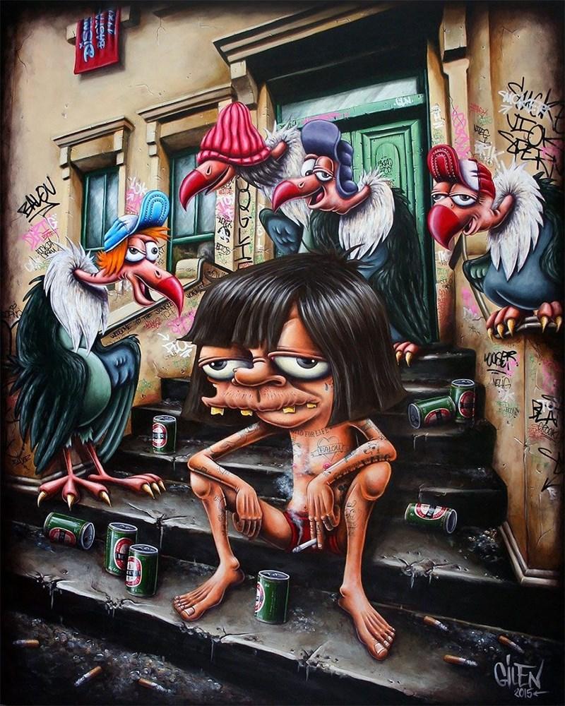 Street art - Sra ELEEME SO THE de OOR LIFE CLEN 2015