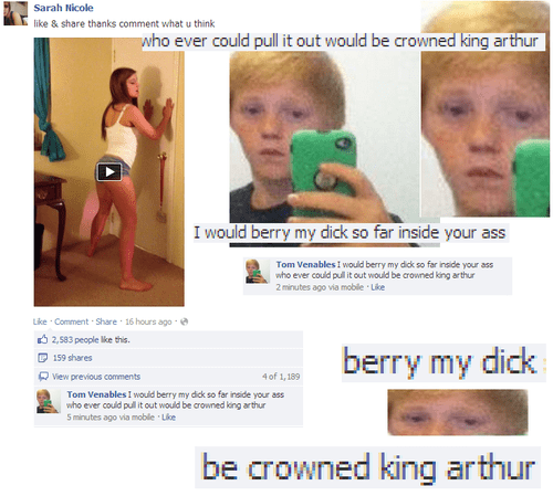 cringe - Muscle - Sarah Nicole like & share thanks comment what u think who ever could pull it out would be crowned king arthur I would berry my dick so far inside your ass Tom Venables I would berry my didk so far inside your ass who ever could pull it out would be crowned king arthur 2 minutes ago via mobile Like Like Comment Share 16 hours ago 2,583 people lke this berry my dick 159 shares 4 of 1,189 View previous comments Tom Venables !I would berry my dick so far inside your ass who ever co