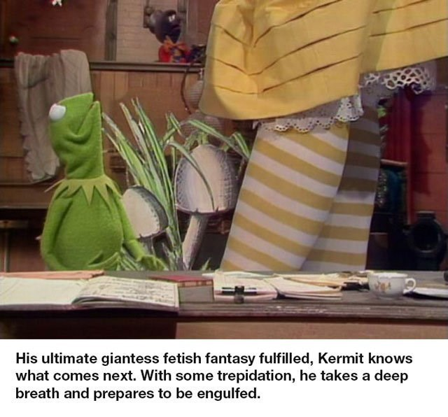 bert and ernie - Room - His ultimate giantess fetish fantasy fulfilled, Kermit knows what comes next. With some trepidation, he takes a deep breath and prepares to be engulfed.