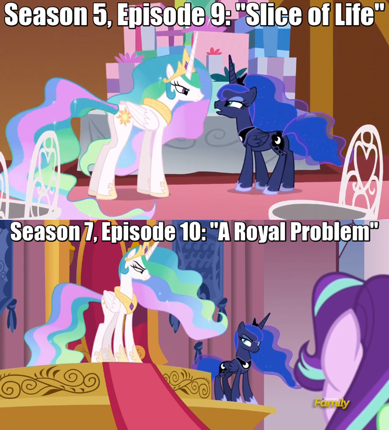 slice of life screencap a royal problem princess luna princess celestia - 9043049984
