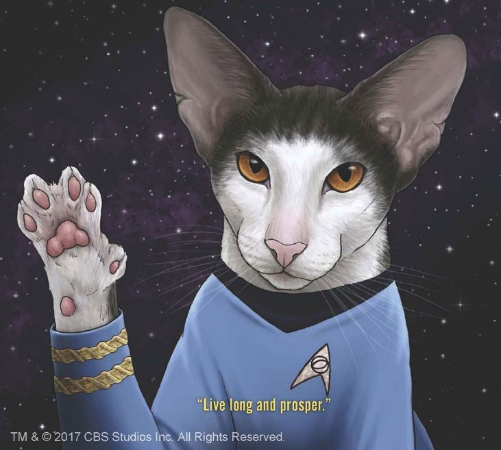 "Cat - ""Live long and prosper."" TM & O 2017 CBS Studios Inc. All Rights Reserved."