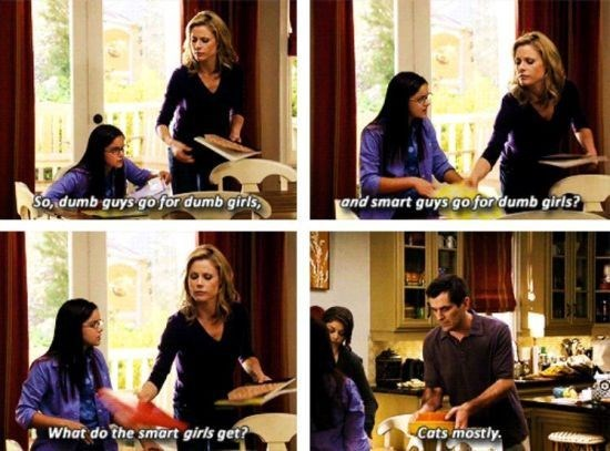 Phil Dunphy telling his daughter about the reality of being a smart girl.