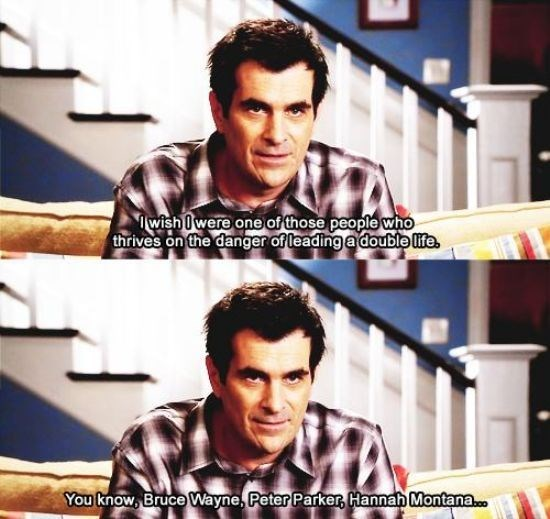 Phil Dunphy taking a jibe at Myley Cyrus